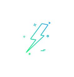 thunder icon design vector image