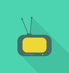 TV flat icon2 vector image