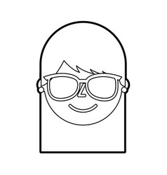young woman profile happy character image vector image