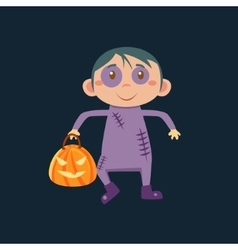 Boy In Zombie Haloween Disguise vector image
