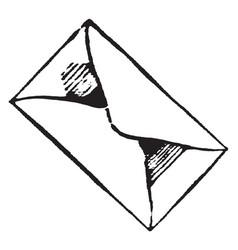 Envelope or wrapper of a document vintage vector