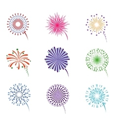 Fireworks display set vector image vector image