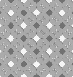 Geometrical ornament with gray and white squares vector image