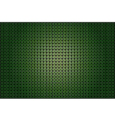 green glowing techno background vector image
