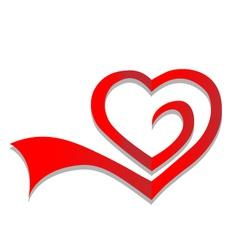 Heart symbol logo vector image vector image