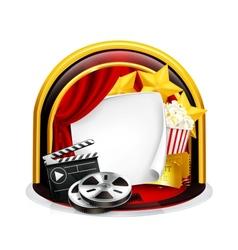 Movie frame vector image