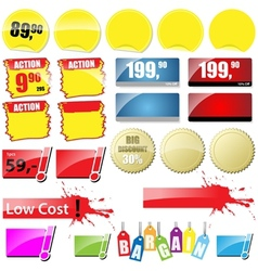 Retail Sales Tags vector image vector image