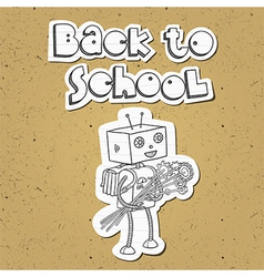 Robot back to school 01 vector image