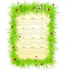 spring 2011 calendar vector image vector image