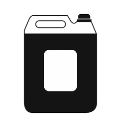 Black plastic canister flat icon vector image vector image