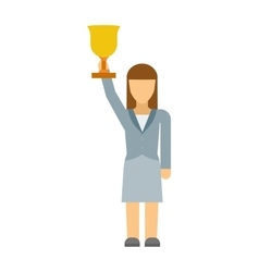 Business woman winner vector image