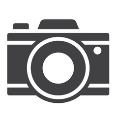 camera solid icon travel and tourism vector image