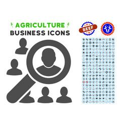 find user icon with agriculture set vector image