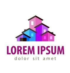 house logo design template construction or vector image vector image
