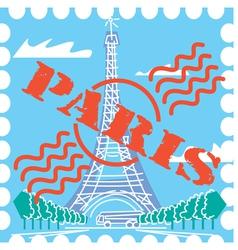 Paris drawing vector image vector image