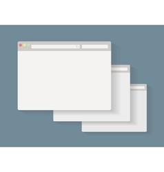Simple set of browser window vector image