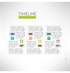 Timeline template infographic suitable for vector image