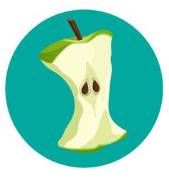 bite apple core web button isolated on blue vector image