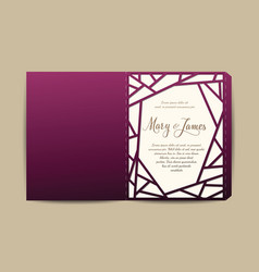 envelope for wedding invitation or greeting card vector image vector image