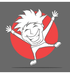 Excited Boy vector image vector image