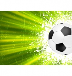 grunge burst football poster vector image