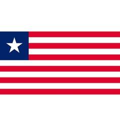liberian flag vector image vector image