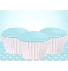 blue cupcakes vector image vector image