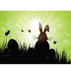 easter bunny silhouette 1103 vector image