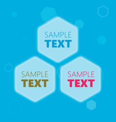 hexagonal text frames vector image