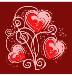romantic heart background vector image