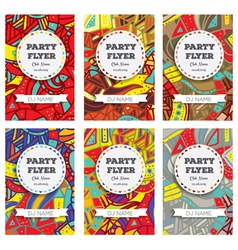 Set of Club Flyers with copy space vector image