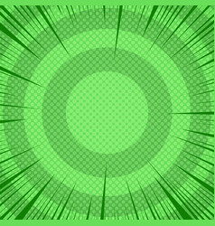 Abstract comic dynamic green template vector