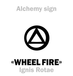 Alchemy the wheel fire ignis rotae vector