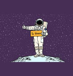 Astronaut hitch rides on venus vector
