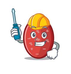 Automotive salami mascot cartoon style vector
