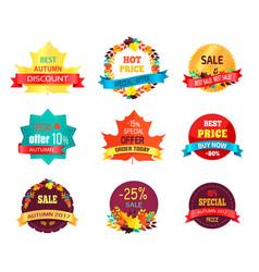 Autumn 2017 sale logo icon vector