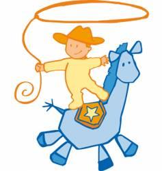 Baby cowboy vector