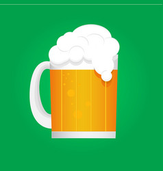beer mug with foam vector image