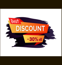 best discount -30 off label vector image