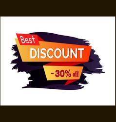 best discount -30 off label vector image
