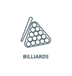 billiards line icon billiards outline vector image