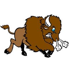 bison sports logo mascot vector image