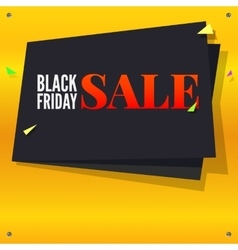 Black Friday sale banner with flying colored vector