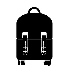 Black silhouette suitcase with wheels and handle vector