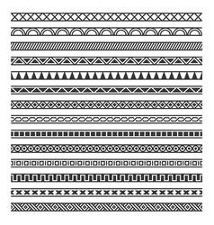 border decoration seamless patterns set on white vector image