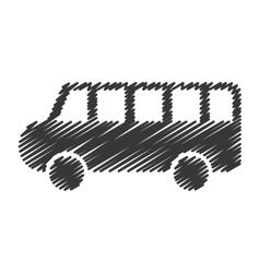 bus school toy icon vector image