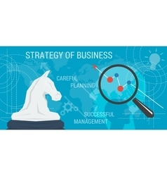 Business concept background STRATEGY vector