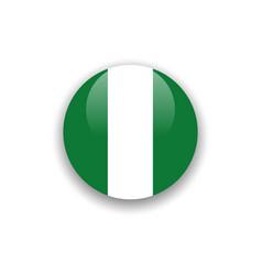 Button nigeria flag template design vector