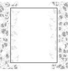 Canna lily outline banner card border vector