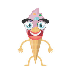 cartoon ice cream birthday vector image
